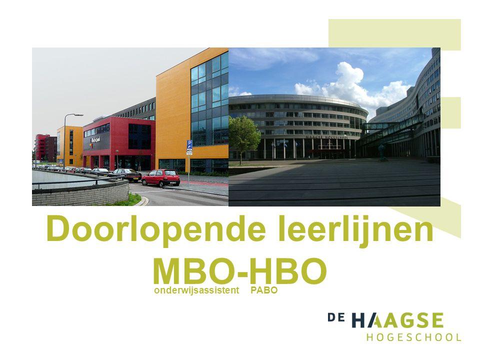 Doorlopende leerlijnen MBO-HBO onderwijsassistent PABO