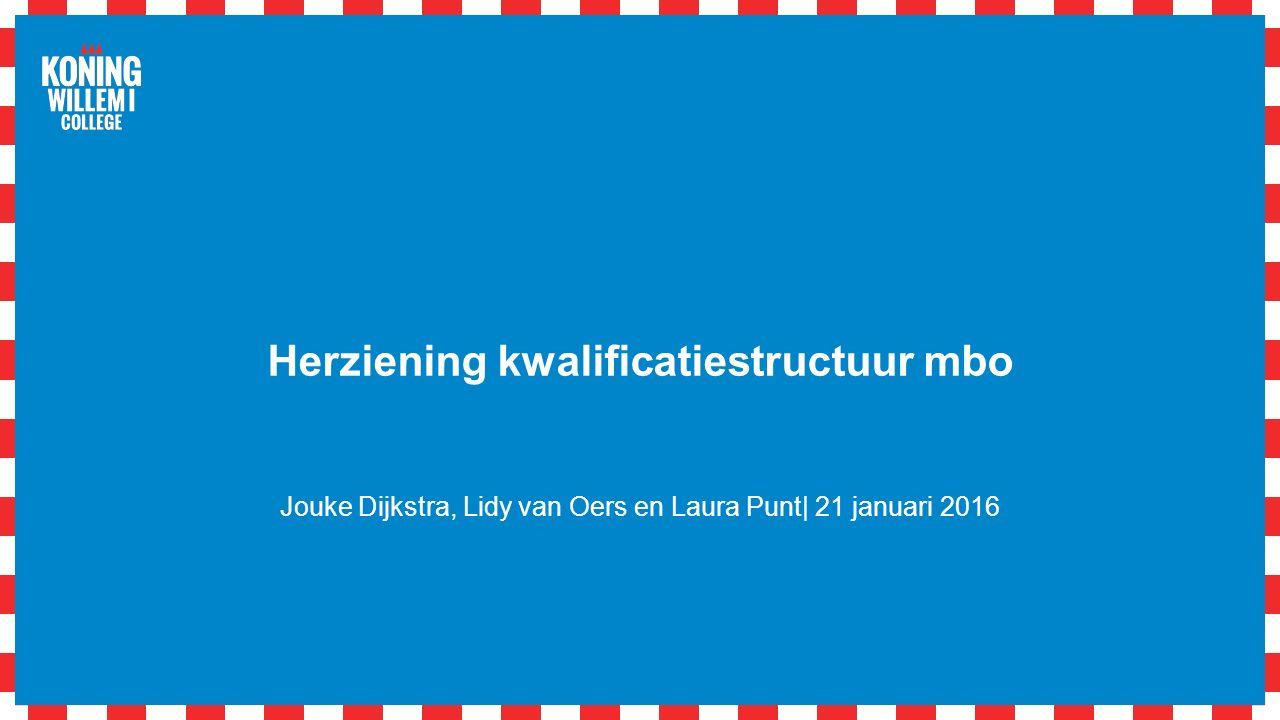 Herziening kwalificatiestructuur mbo Jouke Dijkstra, Lidy van Oers en Laura Punt| 21 januari 2016