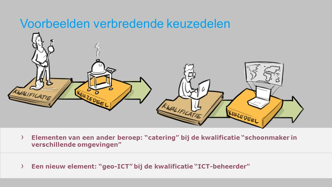 Voorbeelden verbredende keuzedelen › Elementen van een ander beroep: catering bij de kwalificatie schoonmaker in verschillende omgevingen › Een nieuw element: geo-ICT bij de kwalificatie ICT-beheerder