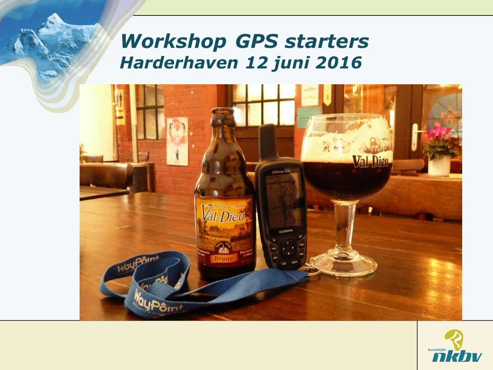 Workshop GPS starters Harderhaven 12 juni 2016