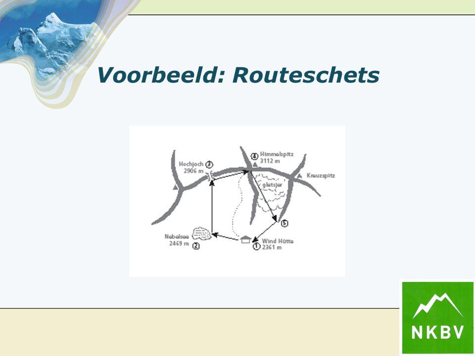 Voorbeeld: Routeschets