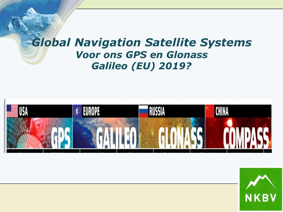 Global Navigation Satellite Systems Voor ons GPS en Glonass Galileo (EU) 2019