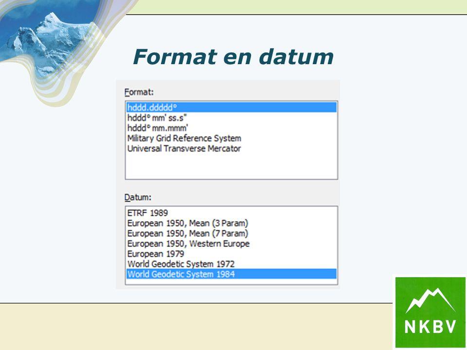 Format en datum