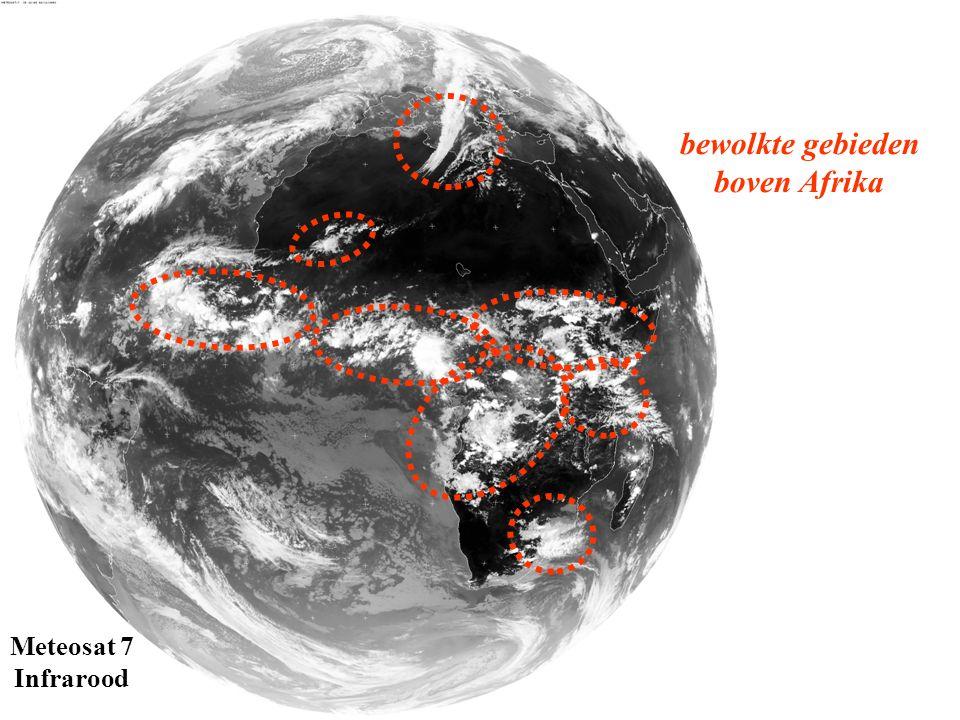 Meteosat 7 Infrarood bewolkte gebieden boven Afrika