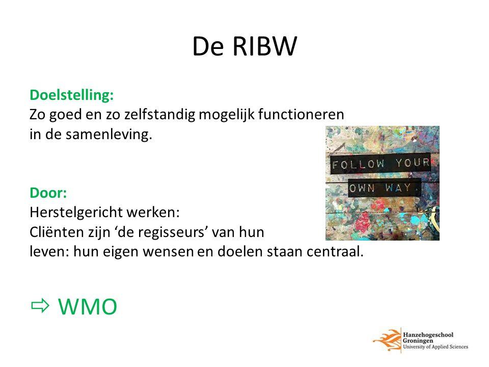De RIBW Doelstelling: Zo goed en zo zelfstandig mogelijk functioneren in de samenleving.