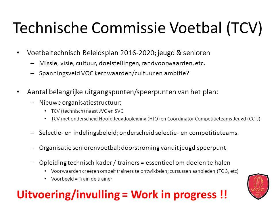 Technische Commissie Voetbal (TCV) Voetbaltechnisch Beleidsplan 2016-2020; jeugd & senioren – Missie, visie, cultuur, doelstellingen, randvoorwaarden, etc.