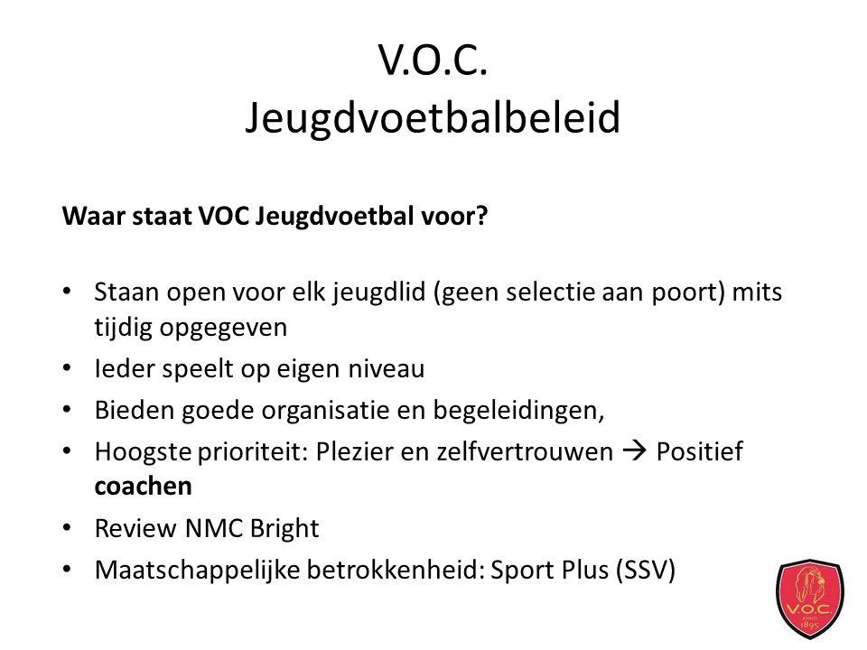 V.O.C. Jeugdvoetbalbeleid Waar staat VOC Jeugdvoetbal voor.