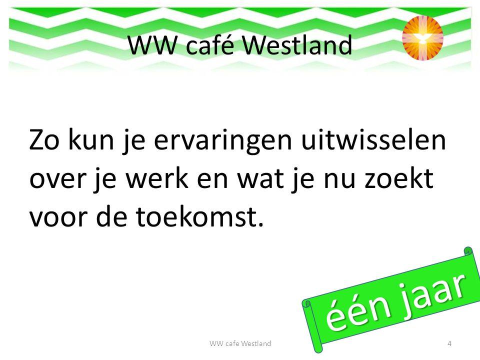 WW café Westland Zo kun je ervaringen uitwisselen over je werk en wat je nu zoekt voor de toekomst.