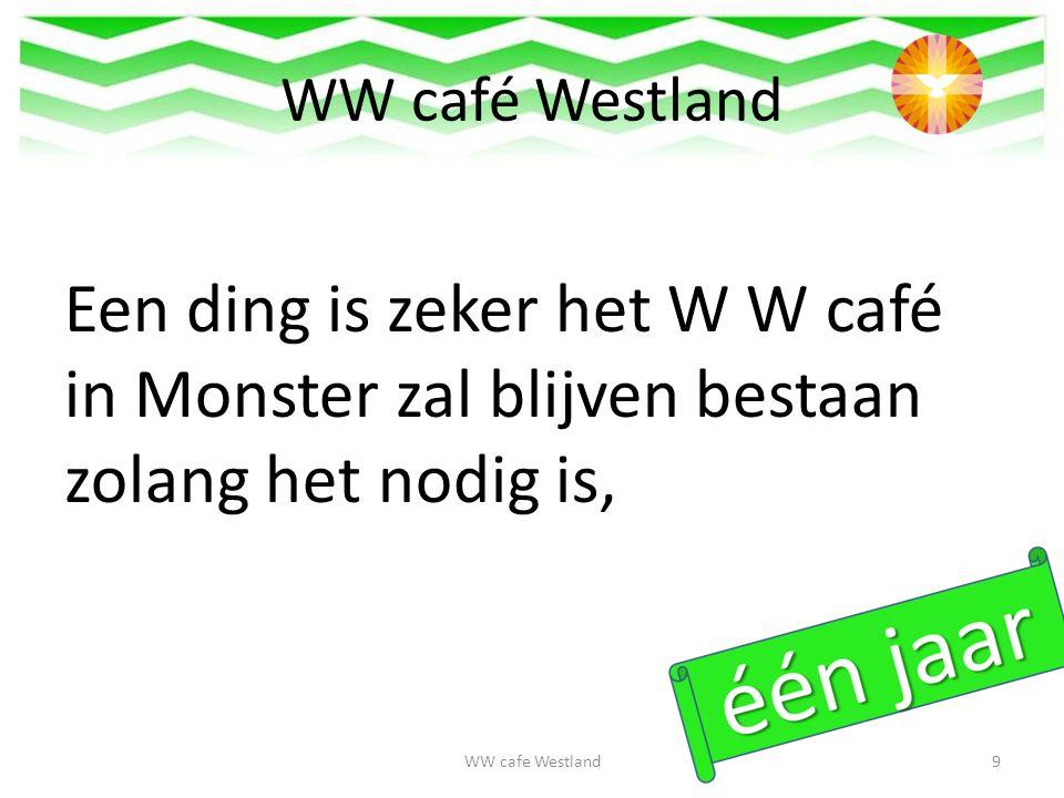 WW café Westland want zonder het W W café heb je geen sociale gesprekken over je werk of voor je toekomstige baan.