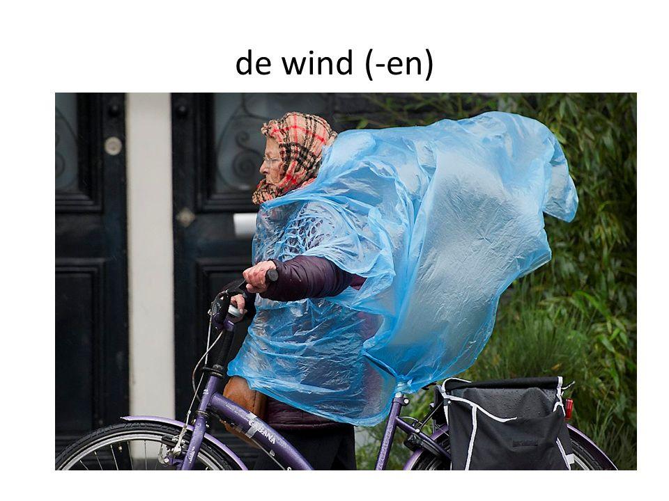de wind (-en)