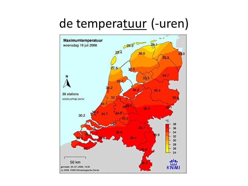 de temperatuur (-uren)