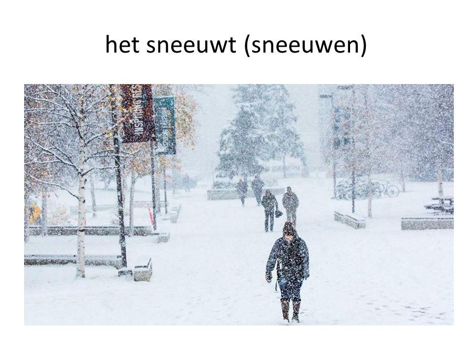 het sneeuwt (sneeuwen)