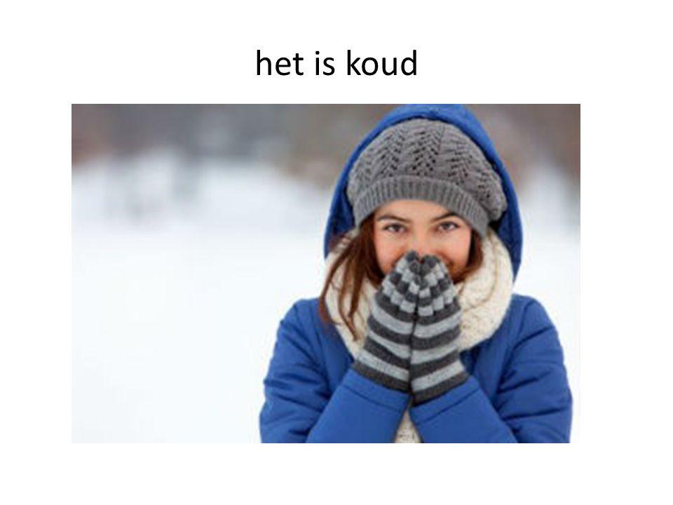 het is koud