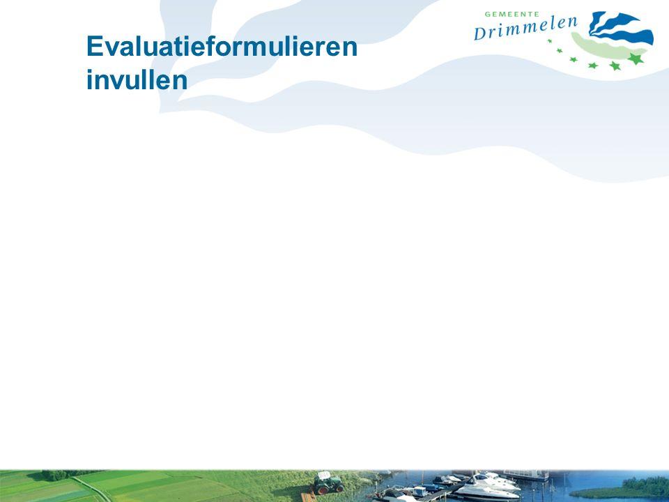 Evaluatieformulieren invullen