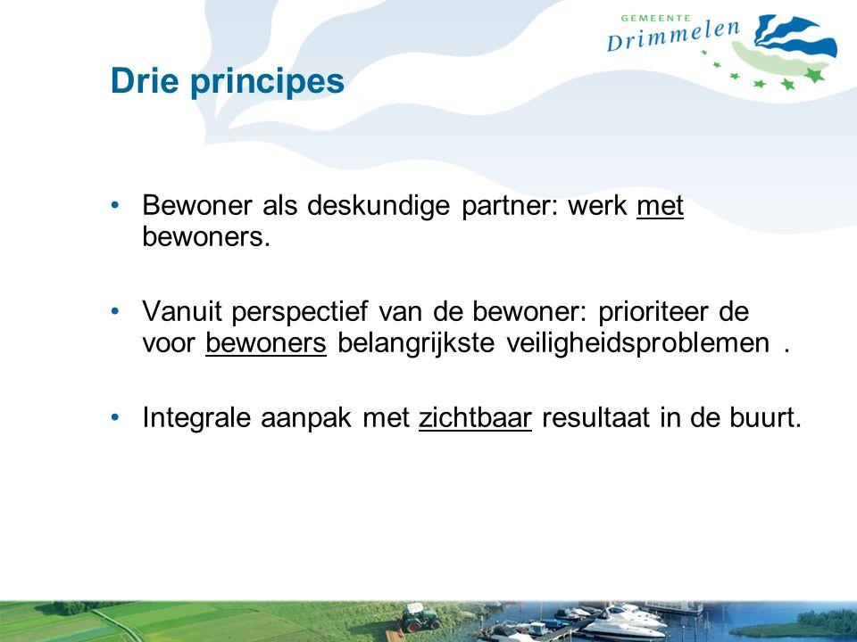 Drie principes Bewoner als deskundige partner: werk met bewoners.
