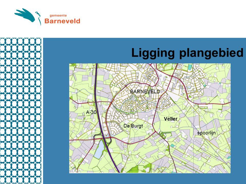Ligging plangebied BARNEVELD A-30 Veller De Burgt spoorlijn