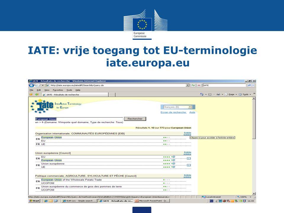 EUR-Lex: vrije toegang tot EU-wetgeving eur-lex.europa.eu