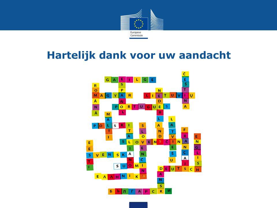 Voordelen van CEF.AT voor lidstaten Geautomatiseerde vertaaldienst die gratis * is voor overheidsdiensten van lidstaten Geschikt voor het vertalen van volledige documenten, berichten en tekstfragmenten Bevordert informatie-uitwisseling en een beter begrip Maakt pan-Europese publieke dienstverlening toegankelijker voor burgers en bedrijven door de taalbarrière te verlagen Nederlandse bedrijven kunnen deelnemen aan aanbestedingen in andere EU- landen Nederlandse burgers kunnen informatie opvragen over hun rechten in de EU, klachten indienen, overheidsdocumenten raadplegen en gebruikmaken van gezondheidsdiensten in de EU – in hun eigen taal * Verschillende business models voor CEF AT worden momenteel onderzocht voor de toekomst