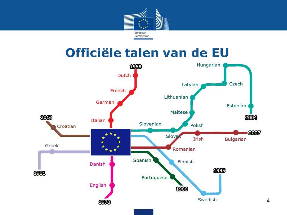 De Europese Unie Lidstaten van de Europese Unie Kandidaat-lidstaten en potentiële kandidaat- lidstaten 500 miljoen mensen 28 landen 24 talen