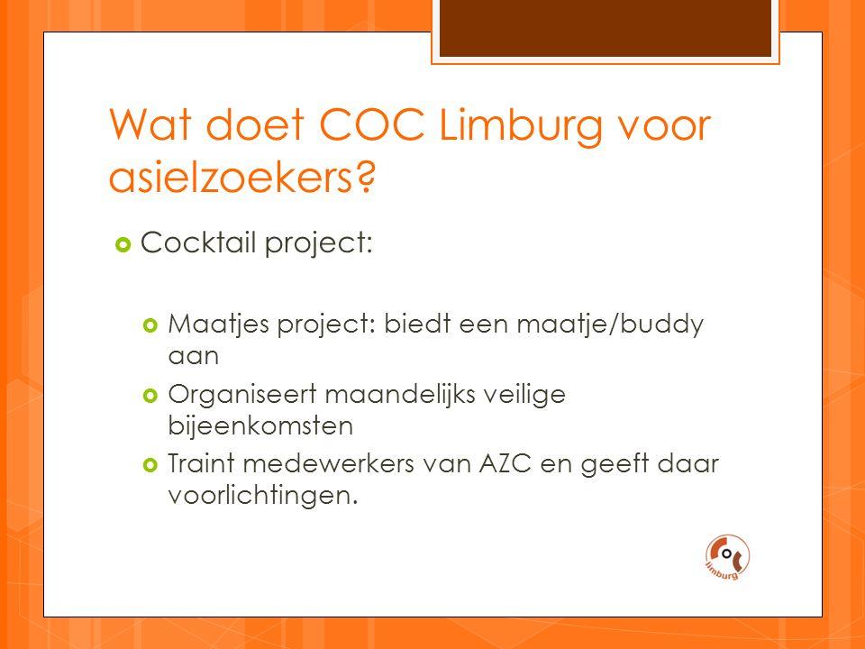 Wat doet COC Limburg voor asielzoekers.