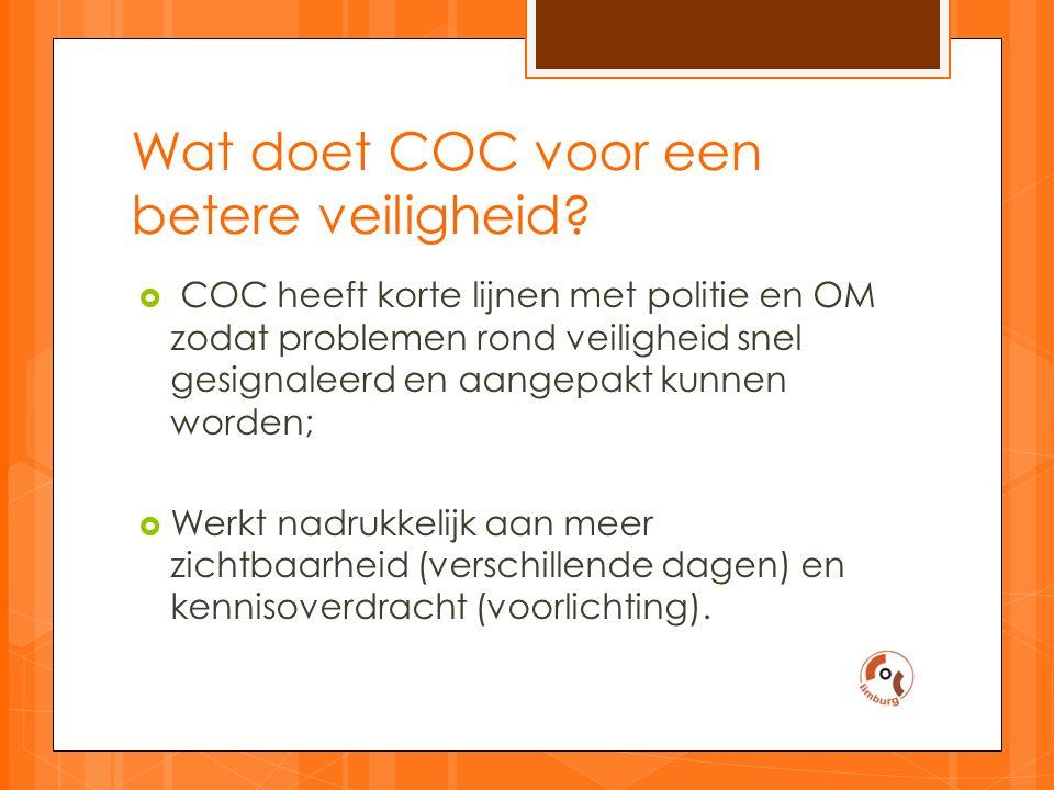 Wat doet COC voor een betere veiligheid.