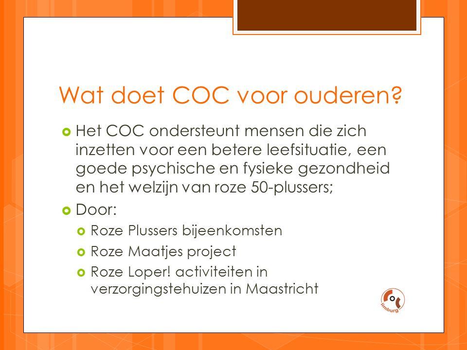 Wat doet COC voor ouderen.