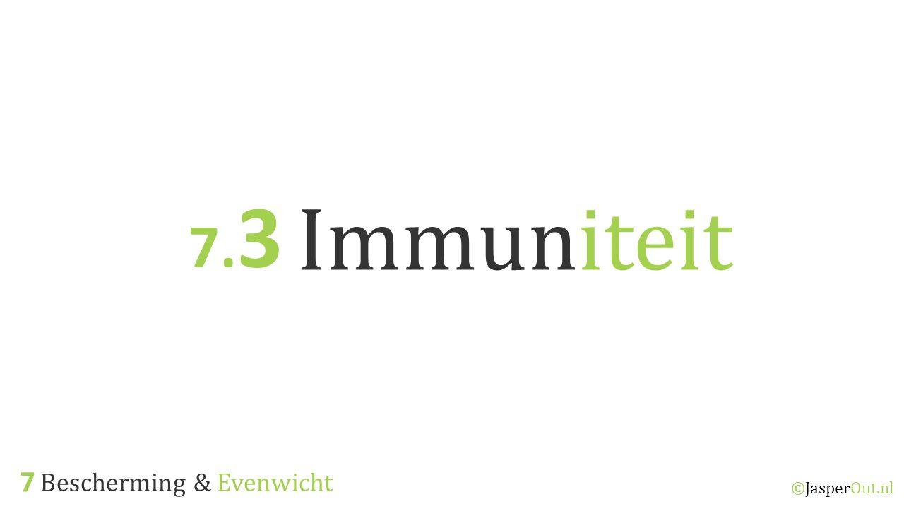 Bescherming & Evenwicht 7 ©JasperOut.nl Immuniteit 7. 3