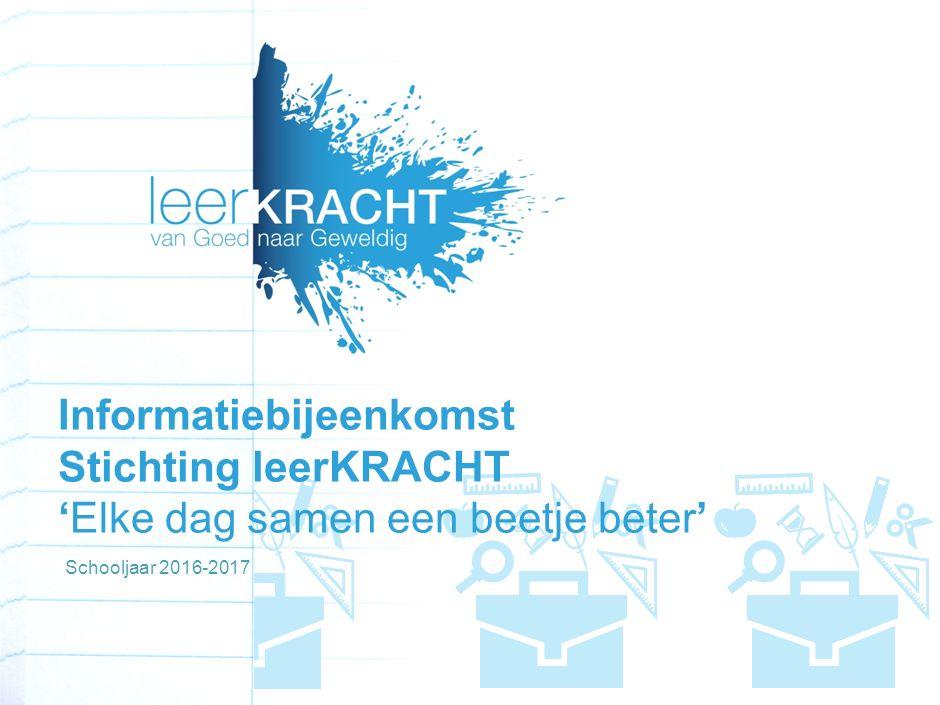 Informatiebijeenkomst Stichting leerKRACHT 'Elke dag samen een beetje beter' Schooljaar 2016-2017