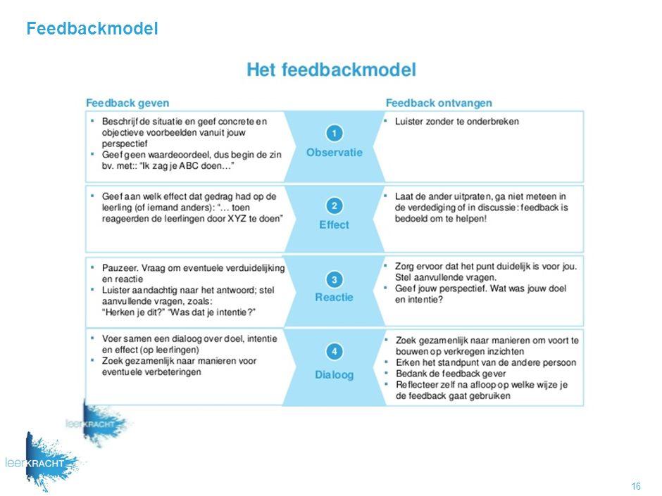 Feedbackmodel 16