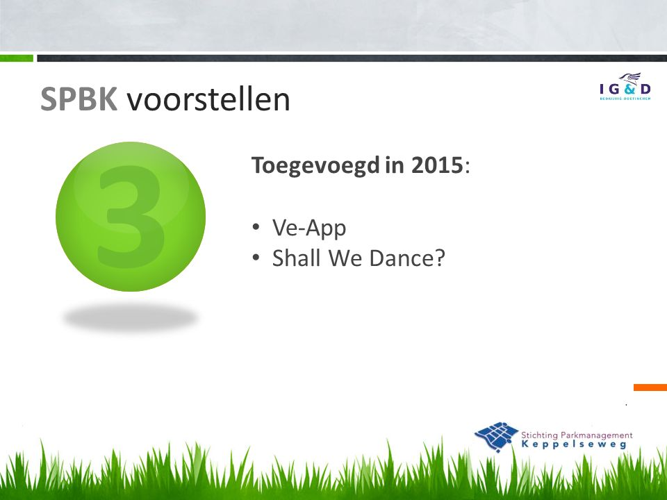 3. Toegevoegd in 2015: Ve-App Shall We Dance? SPBK voorstellen