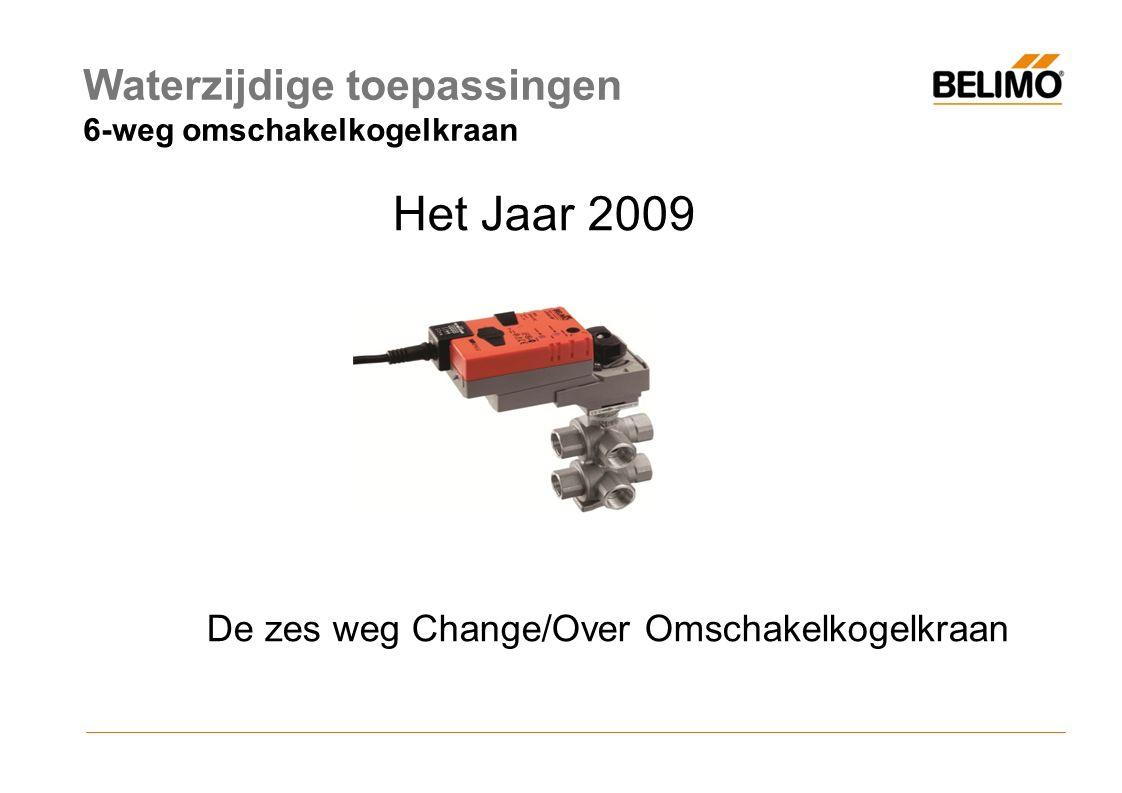 Het Jaar 2009 De zes weg Change/Over Omschakelkogelkraan Waterzijdige toepassingen 6-weg omschakelkogelkraan
