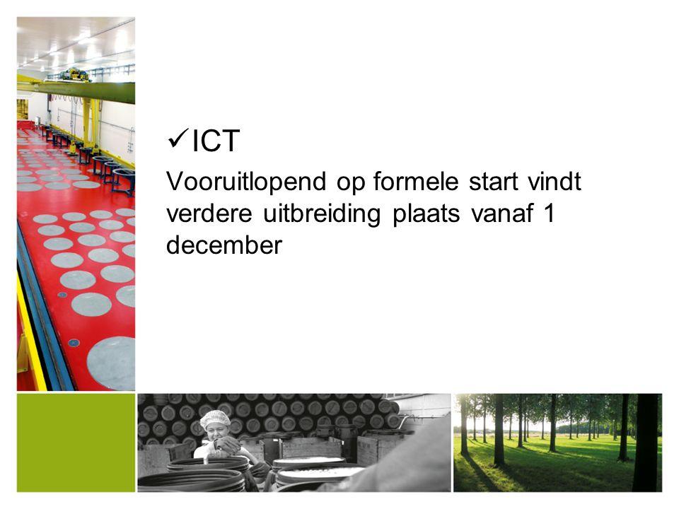 ICT Vooruitlopend op formele start vindt verdere uitbreiding plaats vanaf 1 december