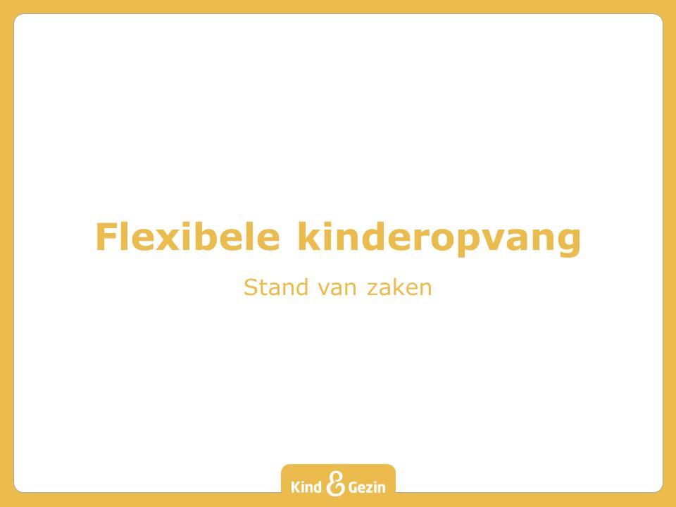 Flexibele kinderopvang Stand van zaken