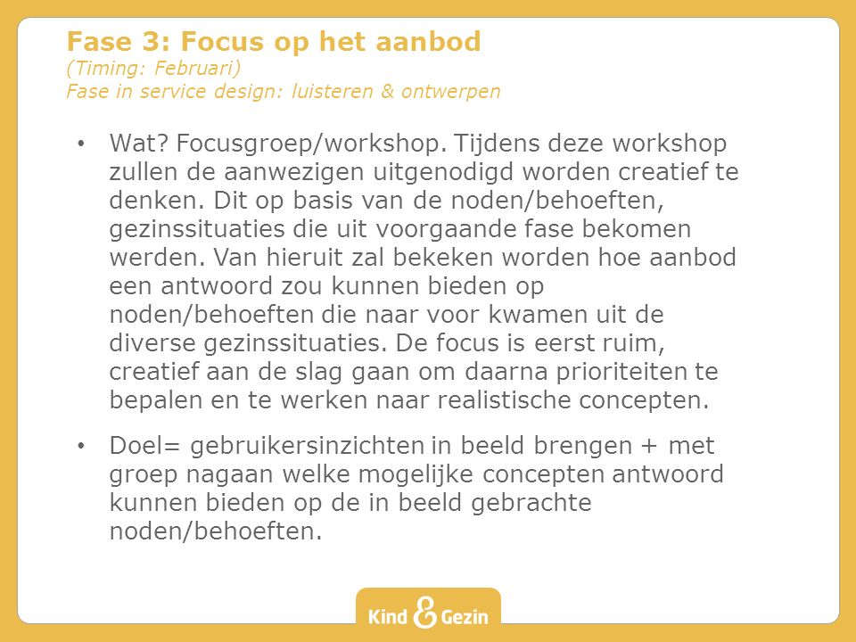 Wat. Focusgroep/workshop.