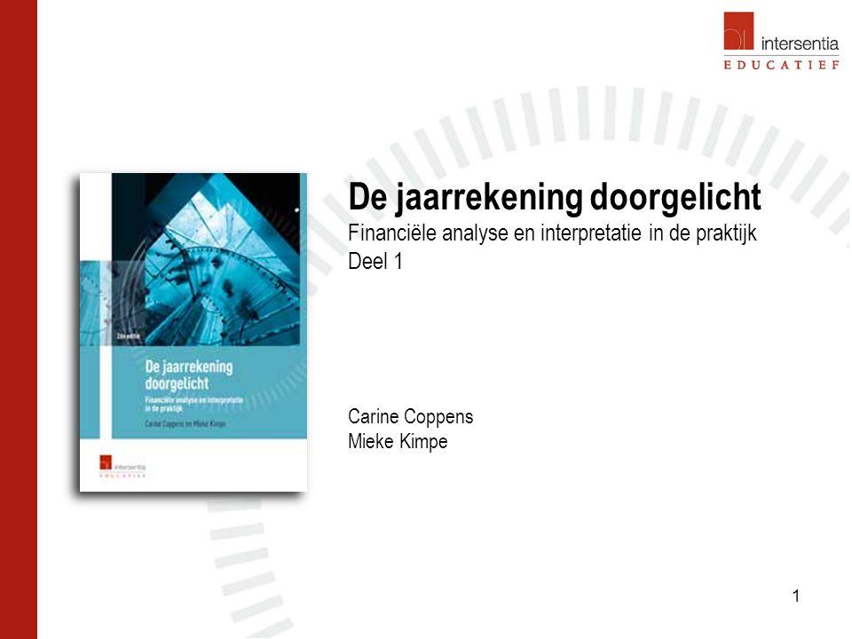 De jaarrekening doorgelicht Financiële analyse en interpretatie in de praktijk Deel 1 Carine Coppens Mieke Kimpe 1
