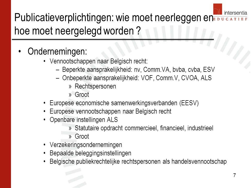 Oprichtingskosten Inhoud van de rubriek (art.
