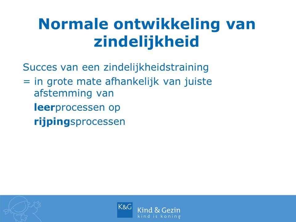 Normale ontwikkeling van zindelijkheid Succes van een zindelijkheidstraining = in grote mate afhankelijk van juiste afstemming van leerprocessen op ri