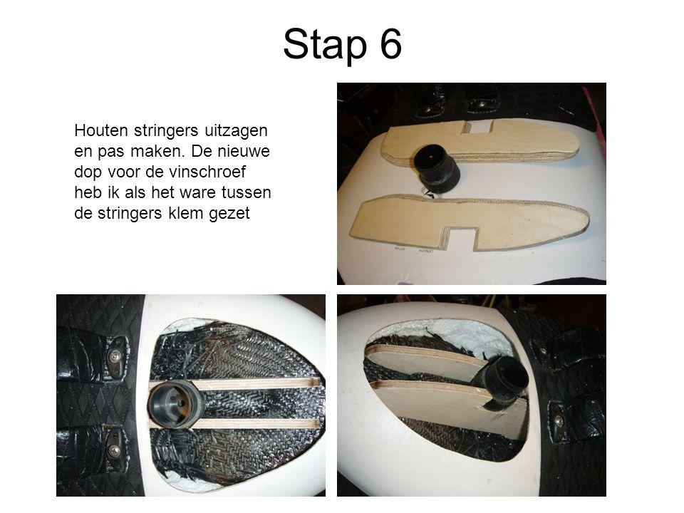 Stap 6 Houten stringers uitzagen en pas maken.