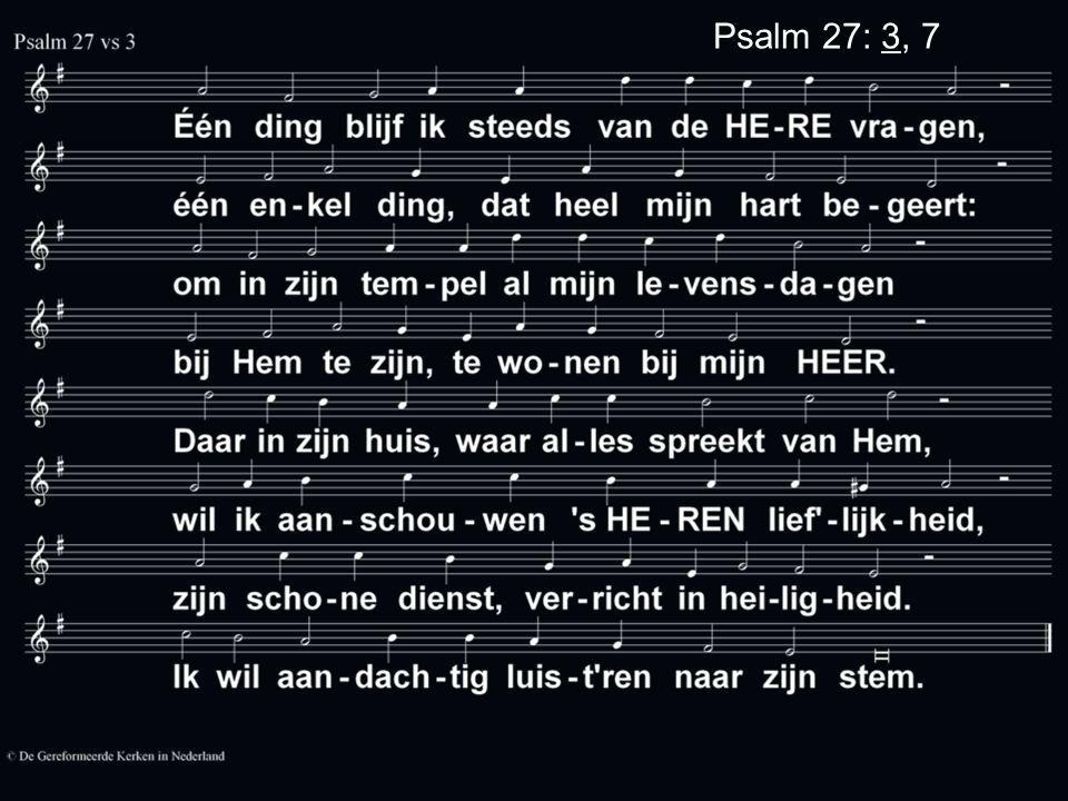 Psalm 27: 3, 7