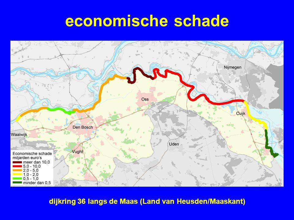 economische schade dijkring 36 langs de Maas (Land van Heusden/Maaskant)