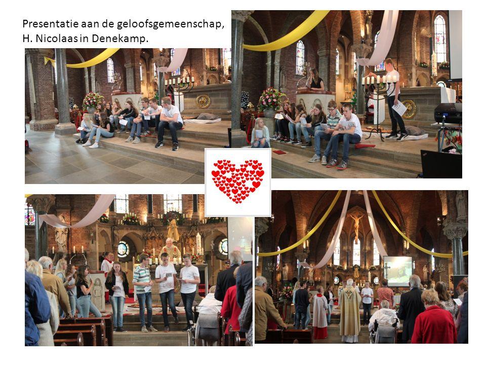 pr Presentatie aan de geloofsgemeenschap, H. Nicolaas in Denekamp.