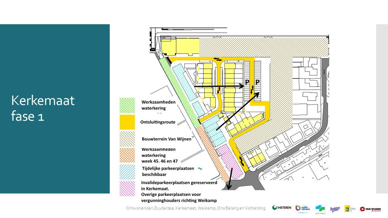 Kerkemaat fase 1 Omwonenden Zuyderzee, Kerkemaat, Weikamp, Ons Belang en Volharding