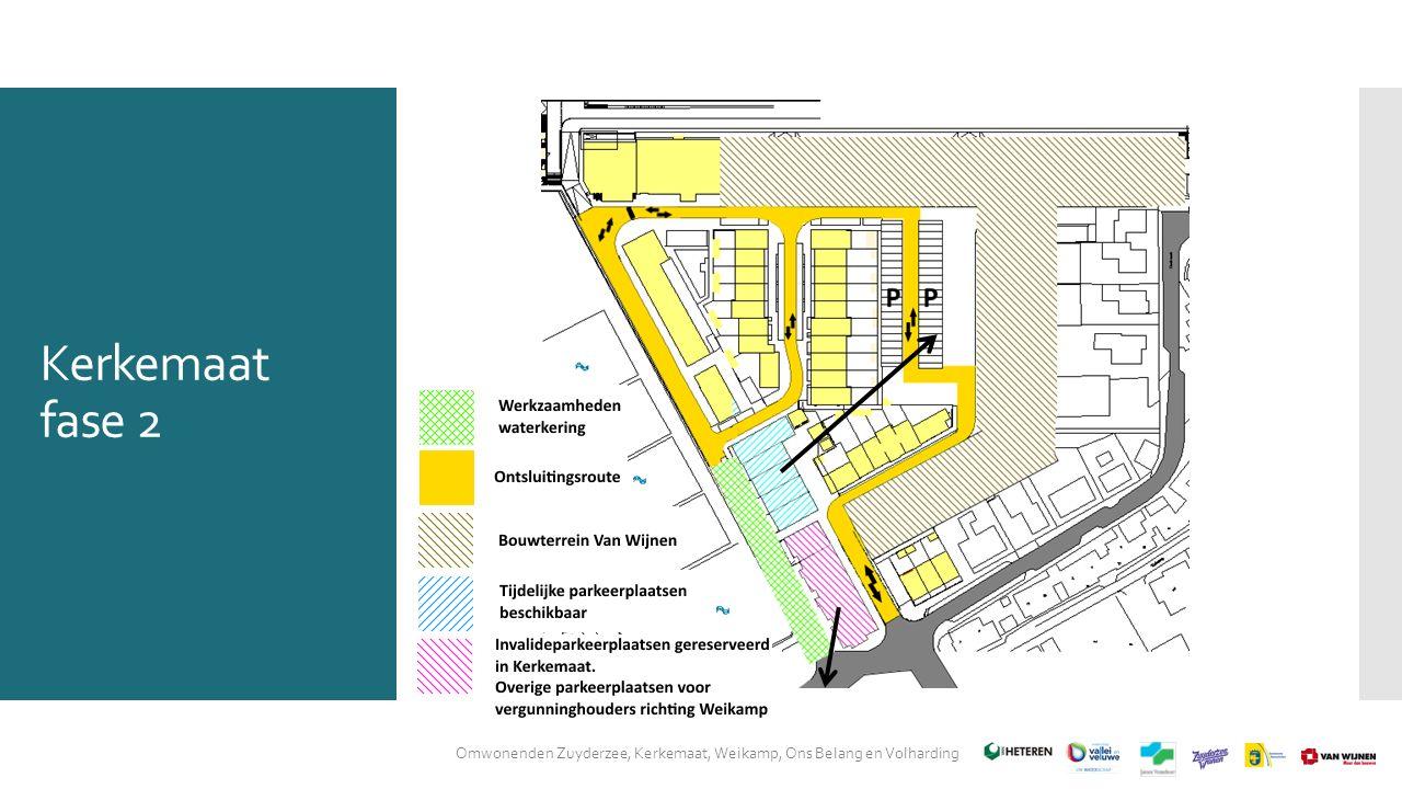 Kerkemaat fase 2 Omwonenden Zuyderzee, Kerkemaat, Weikamp, Ons Belang en Volharding