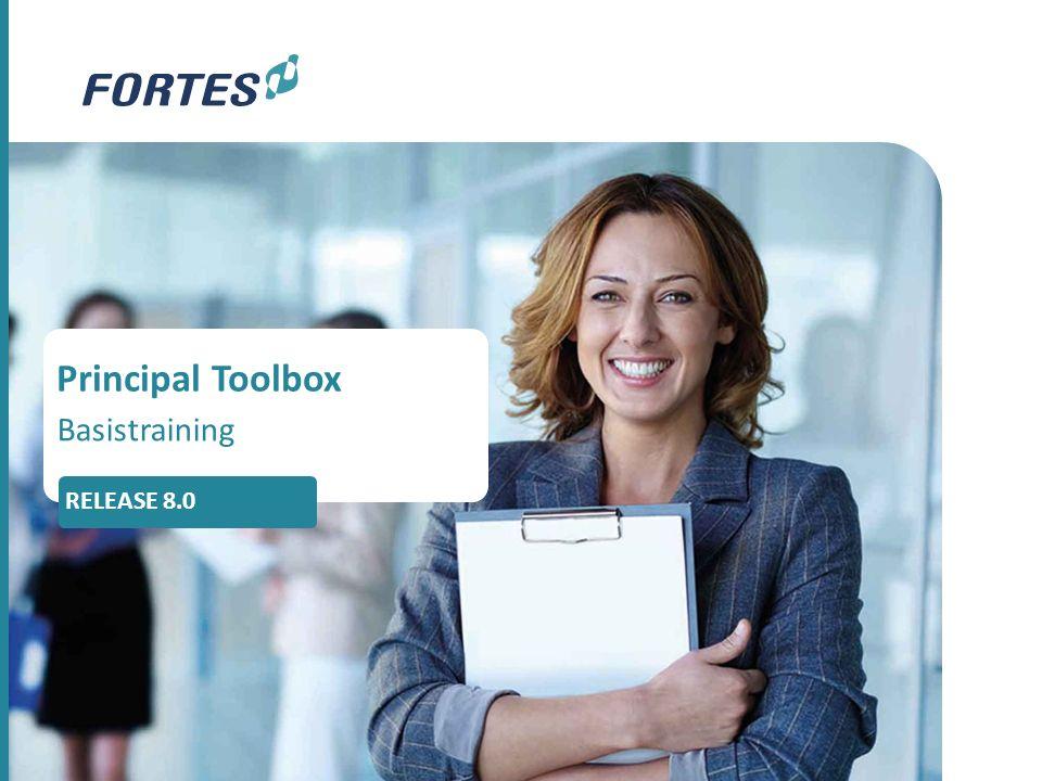 Principal Toolbox Basistraining RELEASE 8.0
