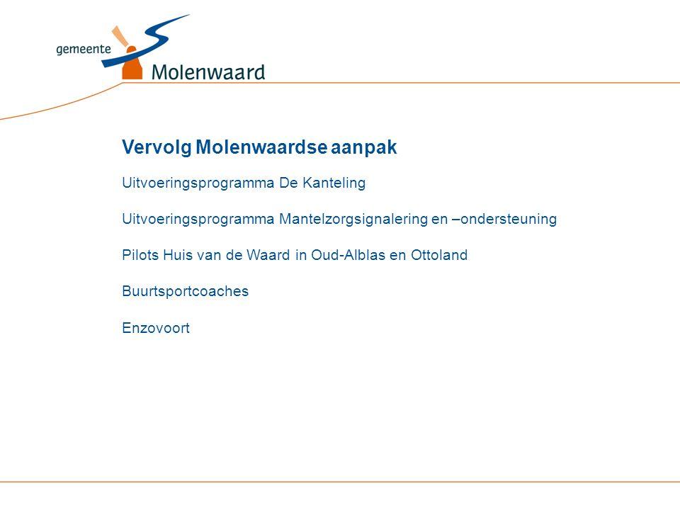 Uitvoeringsprogramma De Kanteling Uitvoeringsprogramma Mantelzorgsignalering en –ondersteuning Pilots Huis van de Waard in Oud-Alblas en Ottoland Buur