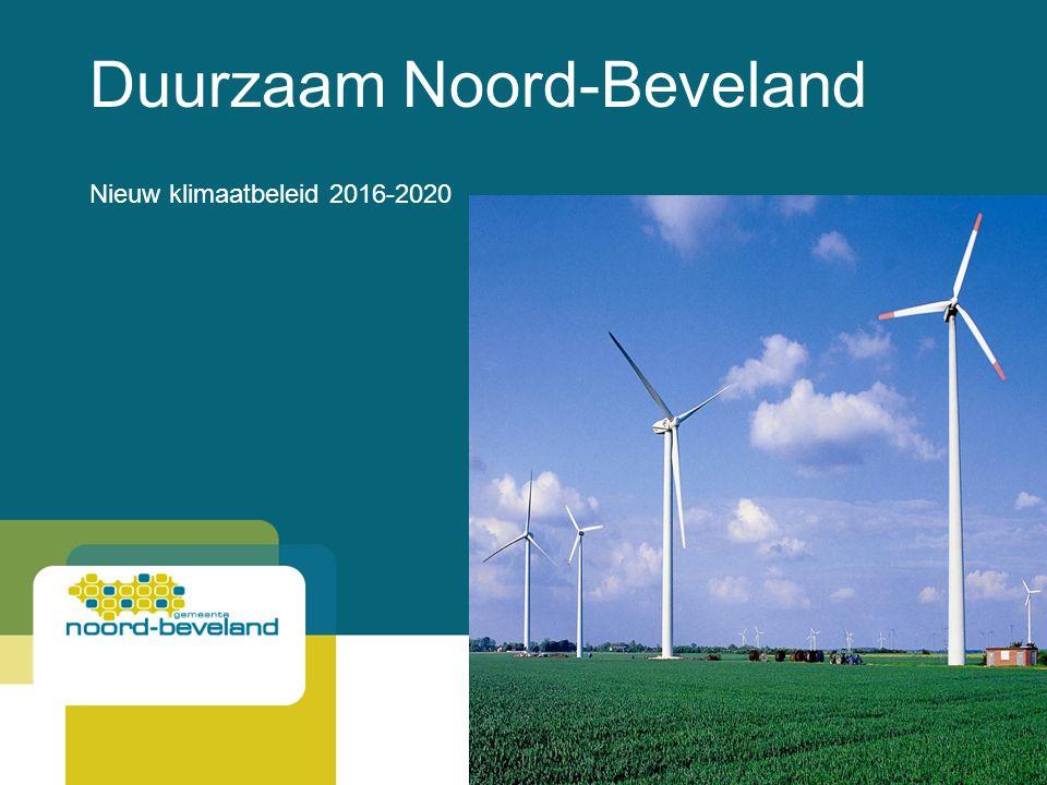Duurzaam Noord-Beveland Nieuw klimaatbeleid 2016-2020