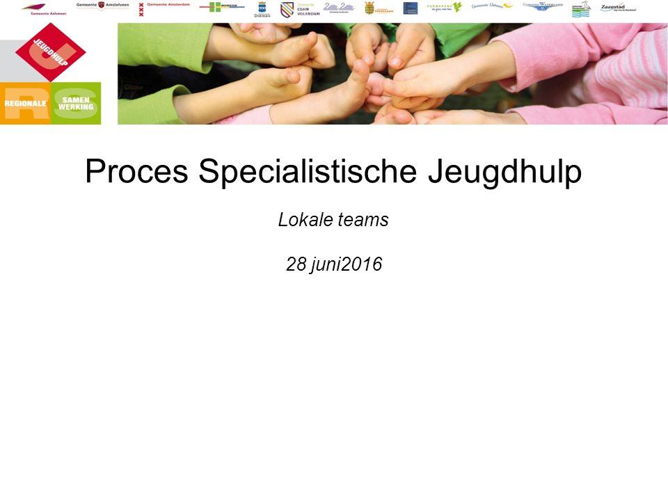 Proces Specialistische Jeugdhulp Lokale teams 28 juni2016