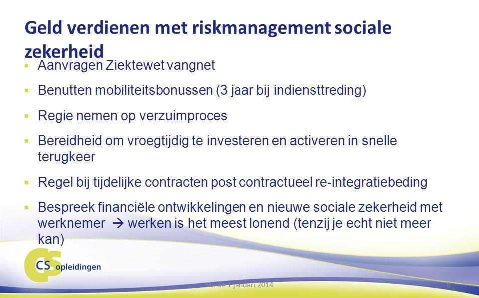 Riskmanagement  Rechtmatigheid  Heeft een werknemer recht op bijv.