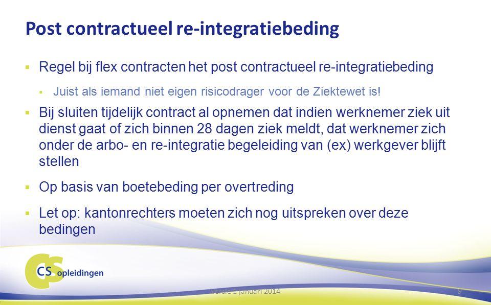 Gevolgen zieke flexwerker: Bepaalde tijd contract bij grote werkgever 10