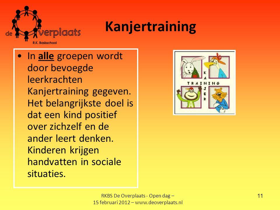 11 Kanjertraining In alle groepen wordt door bevoegde leerkrachten Kanjertraining gegeven.